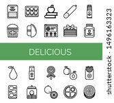 set of delicious icons such as... | Shutterstock .eps vector #1496163323