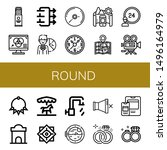 set of round icons such as...   Shutterstock .eps vector #1496164979