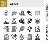 set of gear icons such as... | Shutterstock .eps vector #1496165000