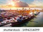 logistics and transportation of ... | Shutterstock . vector #1496216099