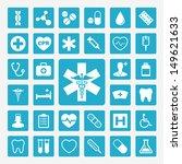 medical vector icon set | Shutterstock .eps vector #149621633