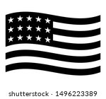 icon usa flag american national ... | Shutterstock .eps vector #1496223389