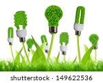 Eco Energy Bulb Isolated On...
