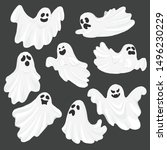 Whisper Ghost Cartoon Isolated...