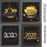 happy new year 2020 invitation... | Shutterstock .eps vector #1496252510