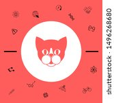 cat   logo  protect sign icon.... | Shutterstock .eps vector #1496268680