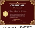 certificate or diploma vintage... | Shutterstock .eps vector #1496279876