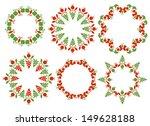 isolated christmas frames on... | Shutterstock .eps vector #149628188