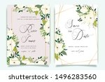 luxury wedding invitation set   ... | Shutterstock .eps vector #1496283560