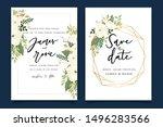 luxury wedding invitation set   ...   Shutterstock .eps vector #1496283566