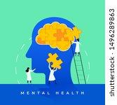 mental health medical treatment ... | Shutterstock .eps vector #1496289863