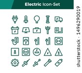 simple set of electric related... | Shutterstock .eps vector #1496290019