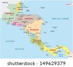 central america map | Shutterstock .eps vector #149629379
