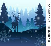 vector image. banner winter... | Shutterstock .eps vector #1496300720