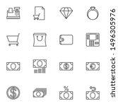 finance line icons set. linear... | Shutterstock .eps vector #1496305976