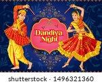 vector design of indian couple... | Shutterstock .eps vector #1496321360