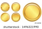 Set Of Realistic Gold Coin....