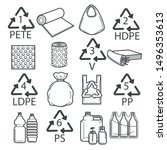 packaging symbols  recycling... | Shutterstock .eps vector #1496353613