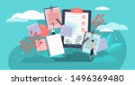 notes vector illustration. flat ... | Shutterstock .eps vector #1496369480