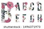 Floral Alphabets Collection. A...