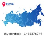 russia administrative map with... | Shutterstock .eps vector #1496376749