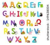 cute childrens english alphabet ...   Shutterstock .eps vector #149638004