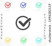 check mark icon vector. tick...   Shutterstock .eps vector #1496382119