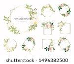 set of floral branch. flower...   Shutterstock .eps vector #1496382500
