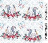 Christmas Squirrel  Snowflake ...