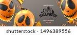 halloween sale festive... | Shutterstock .eps vector #1496389556