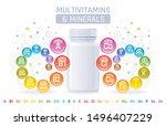 multi vitamin mineral complex... | Shutterstock .eps vector #1496407229