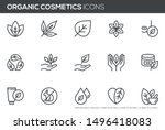 natural and organic cosmetics... | Shutterstock .eps vector #1496418083