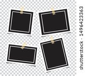 set of empty photo frames.... | Shutterstock .eps vector #1496423363