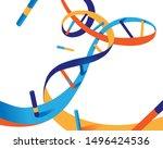 color dna helix vector... | Shutterstock .eps vector #1496424536