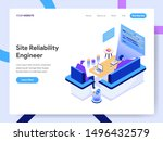 landing page template of site... | Shutterstock .eps vector #1496432579