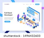 landing page template of full... | Shutterstock .eps vector #1496432603