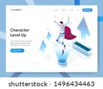 landing page template of... | Shutterstock .eps vector #1496434463