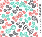 butterfly seamless background  | Shutterstock .eps vector #149644334
