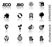 eco icon set | Shutterstock .eps vector #149644340