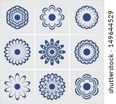 flowers. vector set. eps8 | Shutterstock .eps vector #149644529