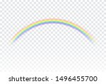 rainbow icon isolated on... | Shutterstock .eps vector #1496455700