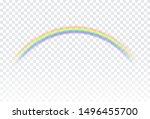 rainbow icon isolated on...   Shutterstock .eps vector #1496455700