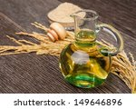 rice bran oil in bottle glass... | Shutterstock . vector #149646896