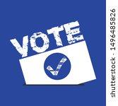 israil election vote vector...   Shutterstock .eps vector #1496485826