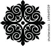 monochrome ethnic pattern | Shutterstock .eps vector #149649539