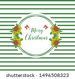 card merry christmas background ... | Shutterstock .eps vector #1496508323