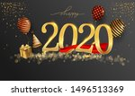 happy new year 2020   new year... | Shutterstock .eps vector #1496513369