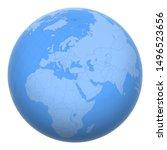 cyprus on the globe. earth...   Shutterstock .eps vector #1496523656
