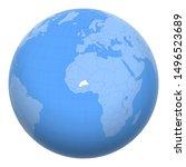burkina faso on the globe....   Shutterstock .eps vector #1496523689