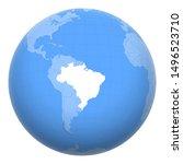 brazil on the globe. earth...   Shutterstock .eps vector #1496523710